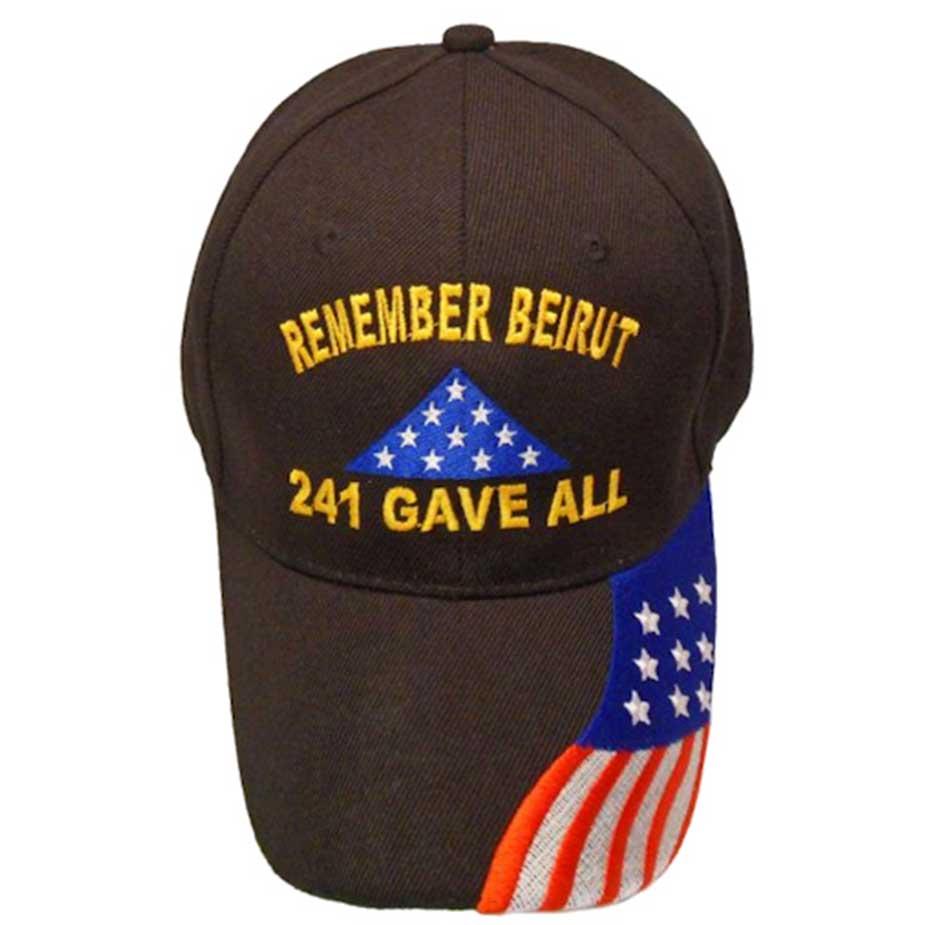 Remember Beirut W Flag Hat