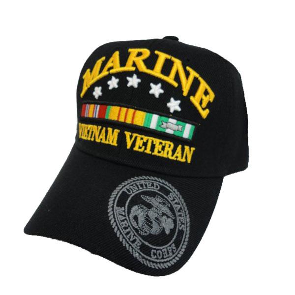99e149367ce Vietnam Veteran Flat Top Cap with Ribbon - Hats