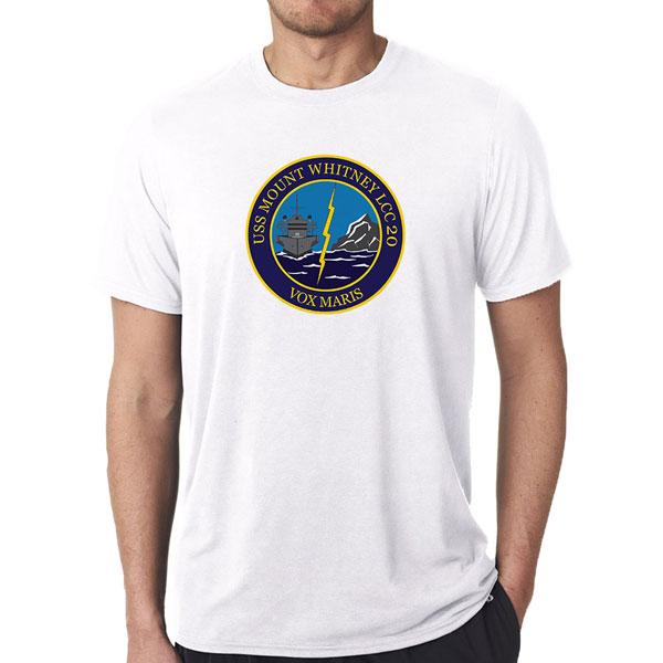 Uss Mount Whitney Veteran White T Shirt