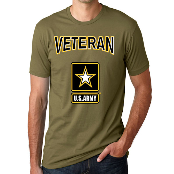 84cd3c0be2a Officially Licensed U.S. Army Veteran Logo T-Shirt ...