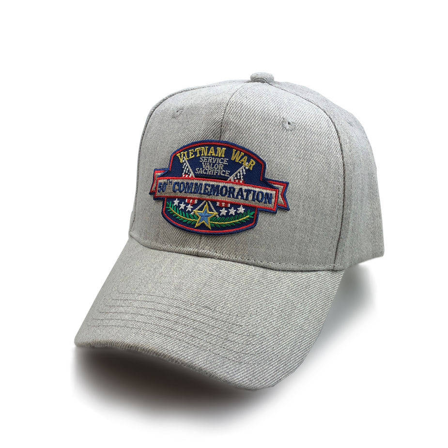 4b8e6d04b0a Vietnam Veteran Hat with 50th Commemoration Embroidery - Special Edition