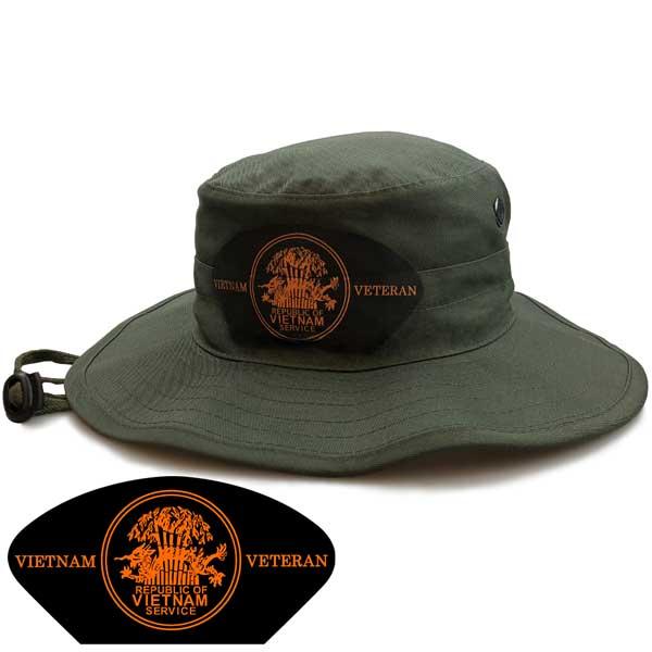 343ff3e0b8f Vietnam Veteran Service Medal Boonie Hat - Limited Issue ...