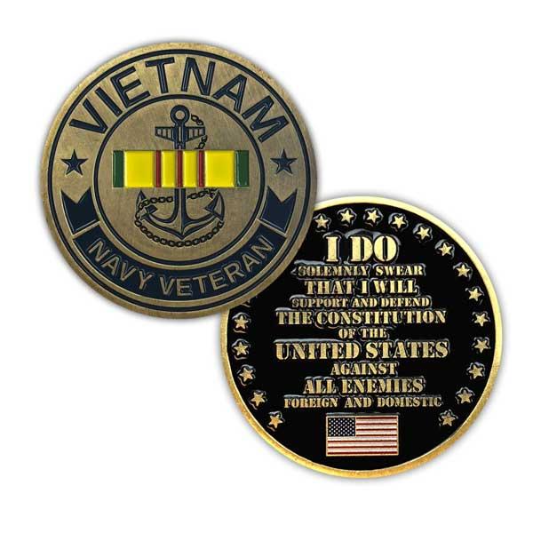 a1bb824ad73 U.S. Navy Vietnam Veteran Challenge Coin - Limited Issue