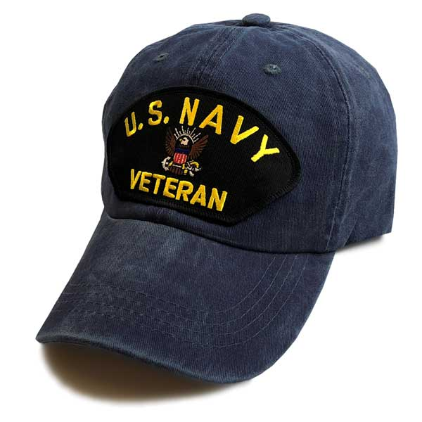 182bac13a5a U.S. Navy Veteran - Classic Edition Vintage Navy Blue Hat ...