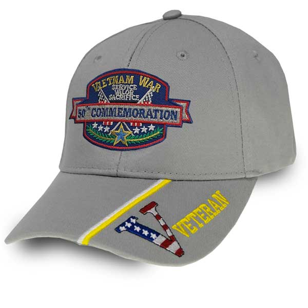 edf20957010 Vietnam War 50th Commemoration - Custom Edition Hat w  VETERAN ...