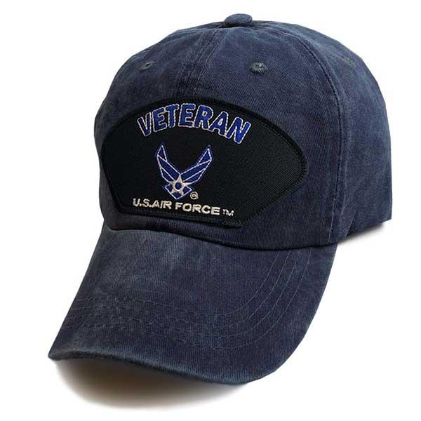 3f59846fdf2 Officially Licensed U.S. Air Force Veteran Wings - Vintage Blue Hat