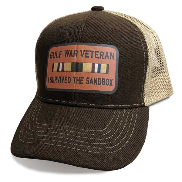b45cacbf7ea Gulf War Veteran Hat with Custom Vinyl Emblem ...