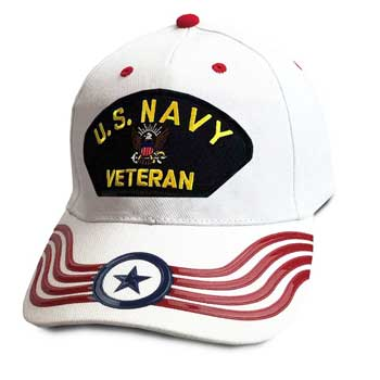 ba4d6d39d74 Navy Veteran Hat with Eagle and Banner Graphics ...