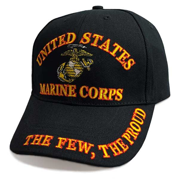 2b1b37b275e3f Marine Corps Hat with The Few The Proud Text and Emblem Graphic