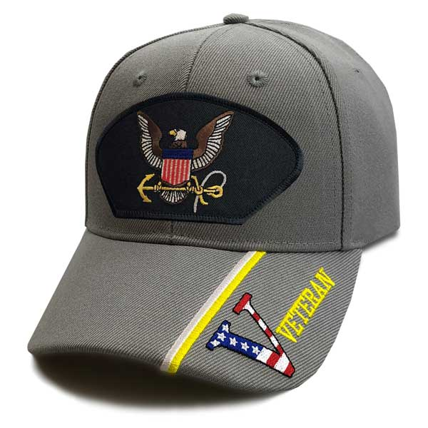 bb07c03ddfea1 US Navy Hat with Eagle and V Veteran Graphics ...