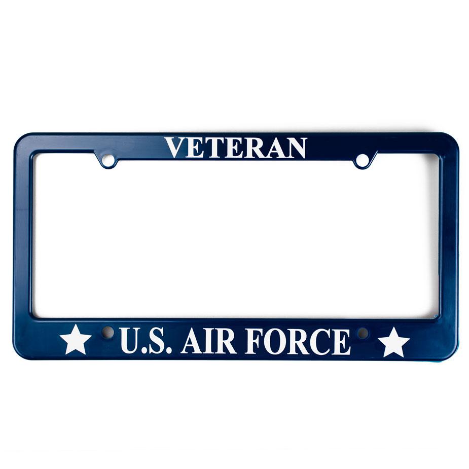 U.S. Military Online Store - Air Force Veteran License Plate Frame ...