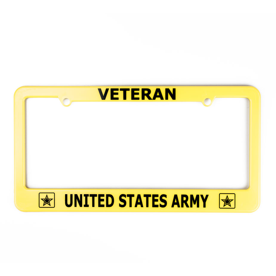 U.S. Military Online Store - Army Veteran License Plate Frame | Army ...