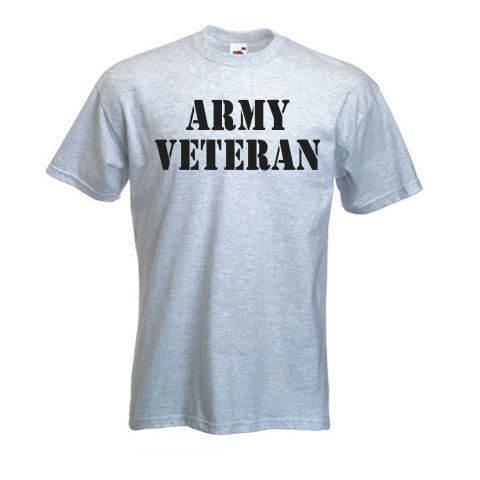 Custom army veteran t shirt big tall for Big and tall custom shirts