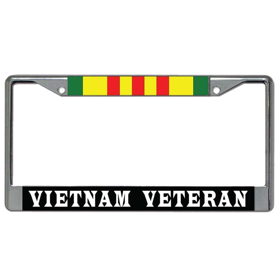 U.S. Military Online Store - Vietnam Veteran & Ribbon Metal License ...