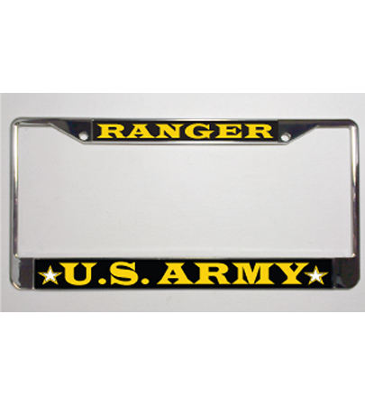 Army Ranger Metal License Plate Frame