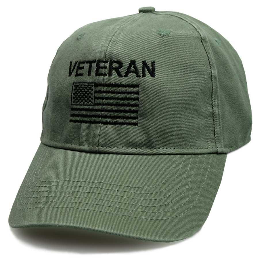 5c6c8dce37a5 American Veteran Hat with Vintage Design   U.S. Flag