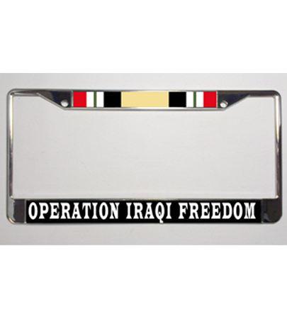 Operation Iraqi Freedom Metal License Plate Frame
