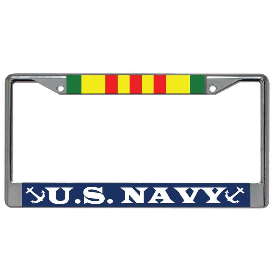 Navy Vietnam Veteran Metal License Plate Frame