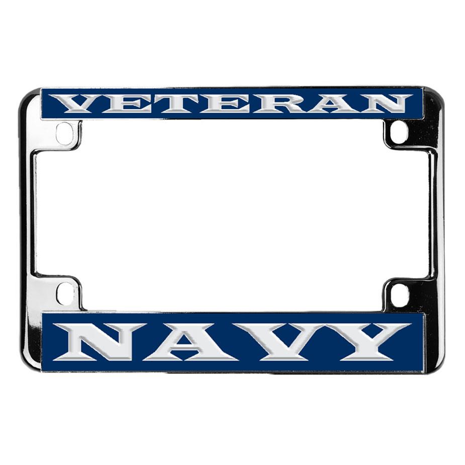 U.S. Military Online Store - Navy Veteran Metal Motorcycle License ...