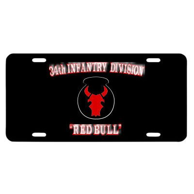 59a557e71cc Army 34th Infantry Division Red Bull License Plate · Click for details