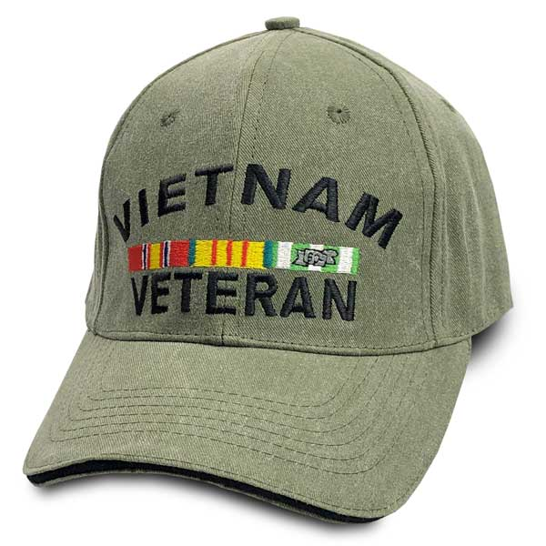 e5f44f6ff6d30 Vietnam Veteran Hat with Embroidered Ribbon