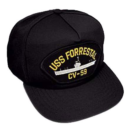 U.S. Military Online Store - Navy USS Forrestal Hat lapel Pin 9589d7c1052