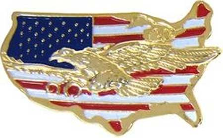 US Military Online Store United States Map Flag Eagle Pin