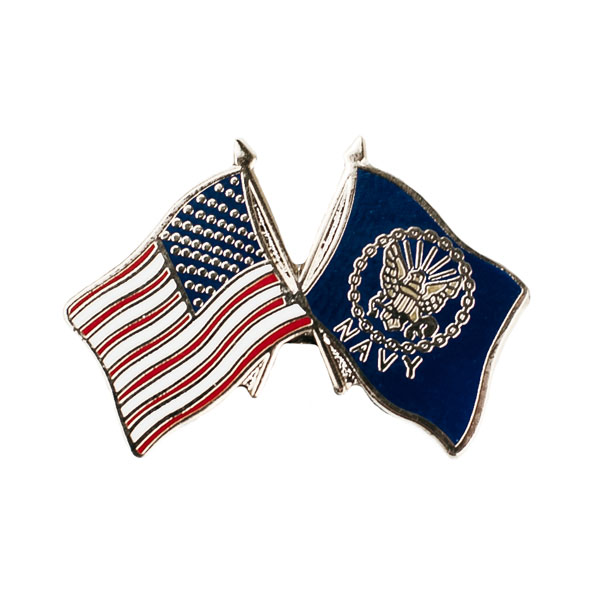 Marvelous U.S. Military Online Store   US Navy U0026 American Flag Pin | USN American  Flag U0026 US Navy Flag Pin