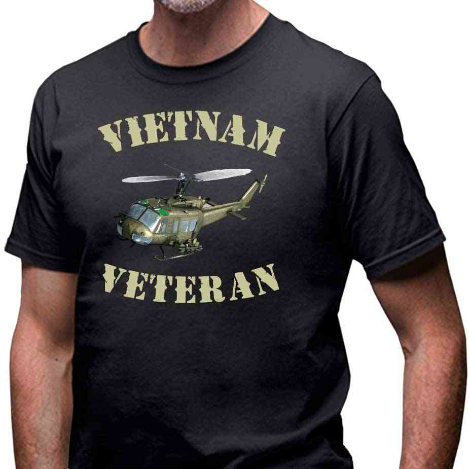 Vietnam Veteran T - Shirt with Huey Helicopter VetFriends.com