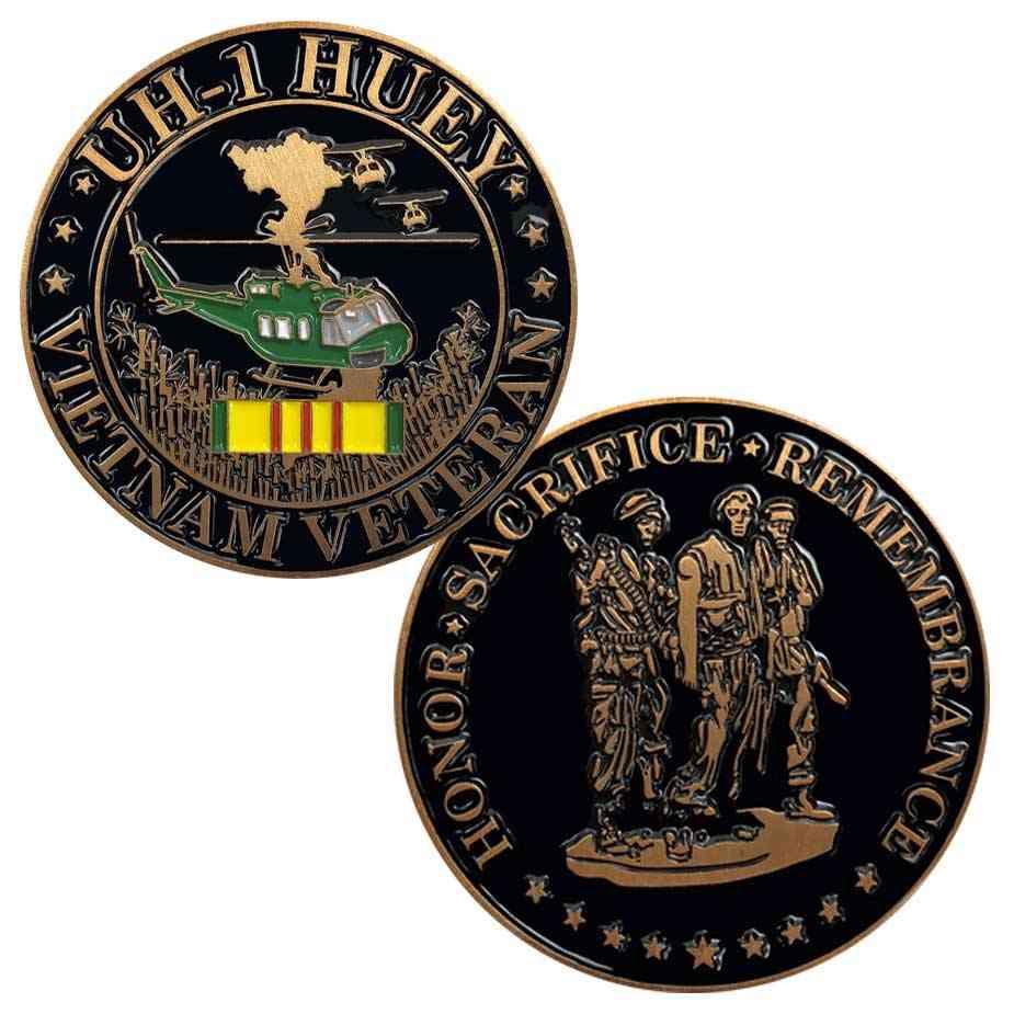 Vietnam War Veteran and Huey Challenge Coin
