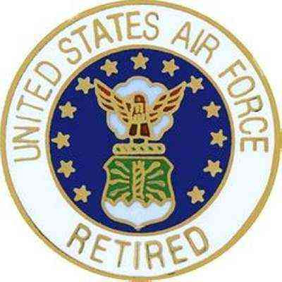 United States Air Force Retired Gift Lapel Pin
