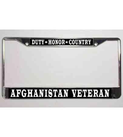 HUEY U.S VETERAN Military Metal Motorcycle License Plate Frame Tag
