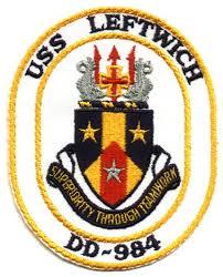 USS LEFTWICH DD-984 Navy